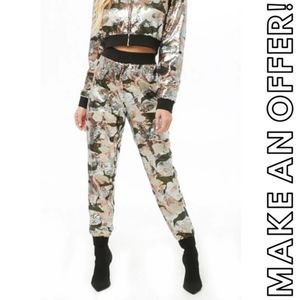 Forever 21 Camo sequin jogger sweatpants | Size S